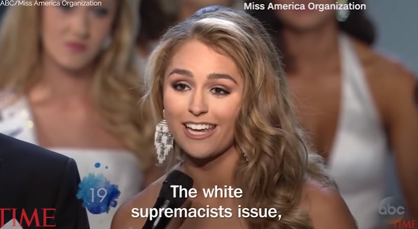 photo image Miss Texas Tears into President Donald Trump at Miss America Pageant (VIDEO)