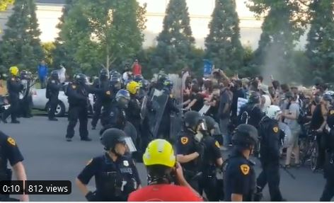 Violent Leftist Mob Riots, Vandalizes District Attorney's Office, Pepper-Sprays Police After Shooting Death of Bernardo Palacios-Carbajal Ruled Justified