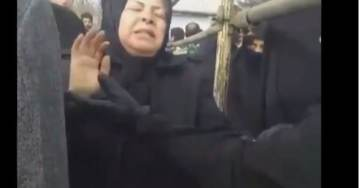 HORRIFIC! Grieving Mother Fenced Off from Her Son's Body and Grave After He Was Murdered by Tyrant Khamenei in Downed Jetliner (VIDEO)