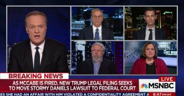Unhinged MSNBC Analysts Claim Andrew McCabe Was Fired to Cover Up Stormy Daniels Affair