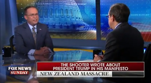 Boom! Watch WH Chief of Staff Mick Mulvaney DESTROYS Shameless Hack Chris Wallace for Editing Shooter's Words to Falsely Indict Trump (VIDEO)
