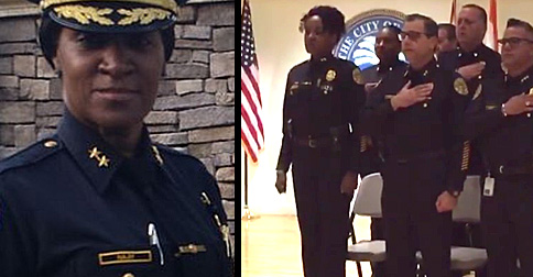 Muslim Assistant Chief of Police Refuses To Salute U.S. Flag