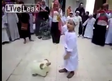 muslim kids animals