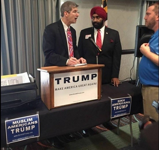 muslims sikhs trump train