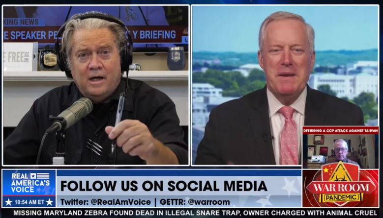 """Boom! Mark Meadows Exposes Fauci's Lies on Gain-of-Function Funding: """"It Was Intentional – They Need to be Held Accountable for Their Actions"""" – War Room Video"""