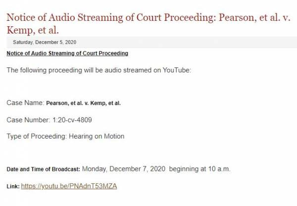 YouTube Link of Today's Voter Fraud Court Hearing in Georgia Is SET TO PRIVATE After Sidney Powell Promoted It — What the Hell is Going On? 2