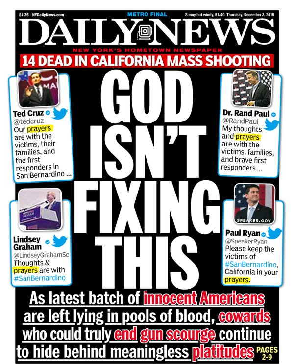 ny daily news mocks prayer