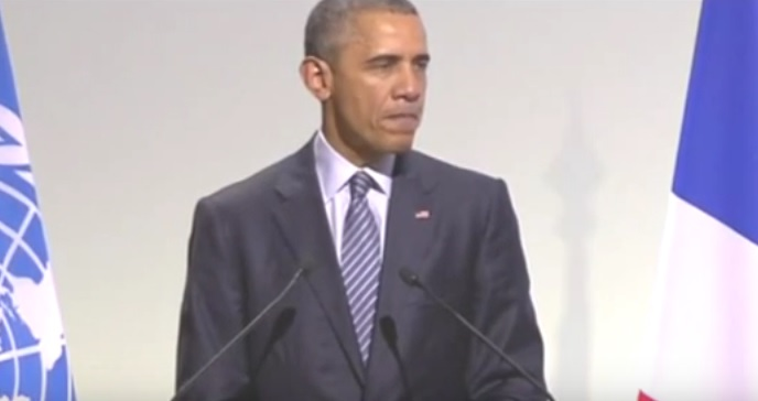 """Obama Warns of """"Submerged Countries, Abandoned Cities, Fields Than No Longer Grow""""  at COP21 Summit"""
