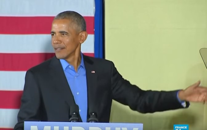 Stuttering Obama Takes Pot Shot at President Trump (Video)