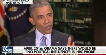 FLASHBACK=> Barack Obama: I Guarantee There Is No Political Influence in Any Investigation by DOJ or FBI. Full Stop. Period.