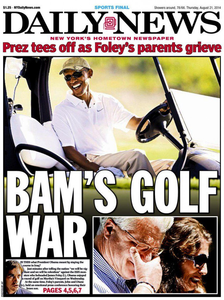 obama golfs foley