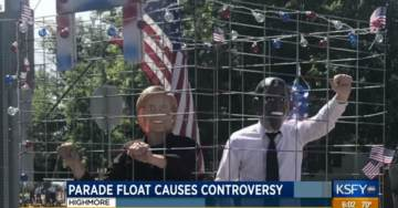 LOCK THEM UP! South Dakota Parade Float With Crooked Hillary and Obama Behind Bars Gets Democrats Hot and Bothered (VIDEO)