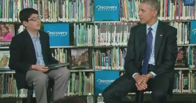 VIDEO OF THE WEEK=> Kid Interviewer Cuts Off Obama for Droning On Too Long