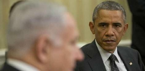 obama netanyahu glare