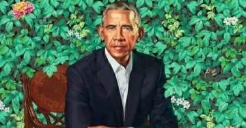 Figures. Obama's Official White House Portrait in the Leaves Has Six Fingers