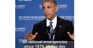 Obama Declared National Emergencies 13 Times Including Swine Flu, Iran and Flint Water Crisis