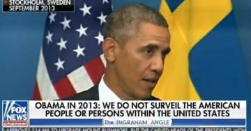 "Flashback: Barack Obama Tells Stockholm Audience ""We Do Not Surveil Our Own People"" (VIDEO)"