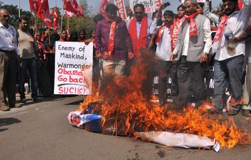 obama torched india
