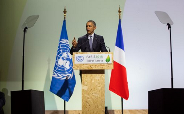 """Obama Bashes US at #COP21: """"We Embrace Our Responsibility for Creating This Problem"""""""
