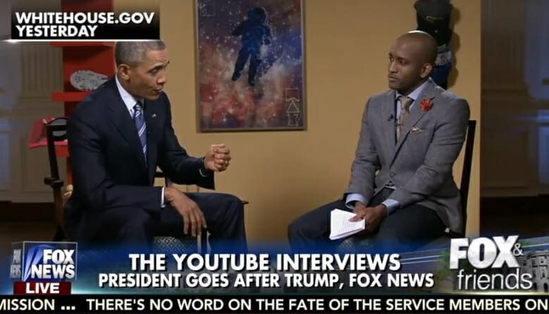 obama youtube fox trump interview