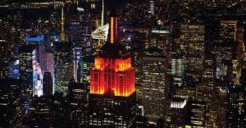 Empire State Building Shines Orange for Gun Control