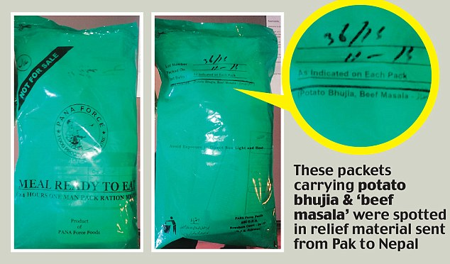 OUTRAGE IN NEPAL After Pakistan Sends Packaged Cow Meat as Disaster Relief