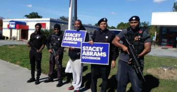 VOTE OR DIE: Black Panthers Campaign for Democrat Stacey Abrams with AK-47s (VIDEO)