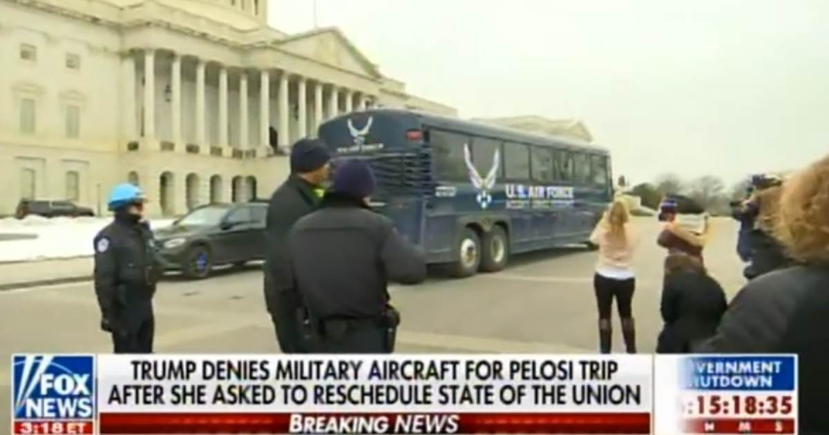 VIDEO: STRANDED BUS with Pelosi and Democrat Lawmakers DRIVING CIRCLES AROUND US CAPITOL