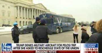 VIDEO: STRANDED BUS with Pelosi and Democrat Lawmakers DRIVES CIRCLES AROUND US CAPITOL