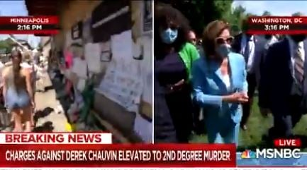 Breaking: Democrat Leader Nancy Pelosi Joins DC Protesters After They Torched Historic Church and Desecrated National War Memorials!