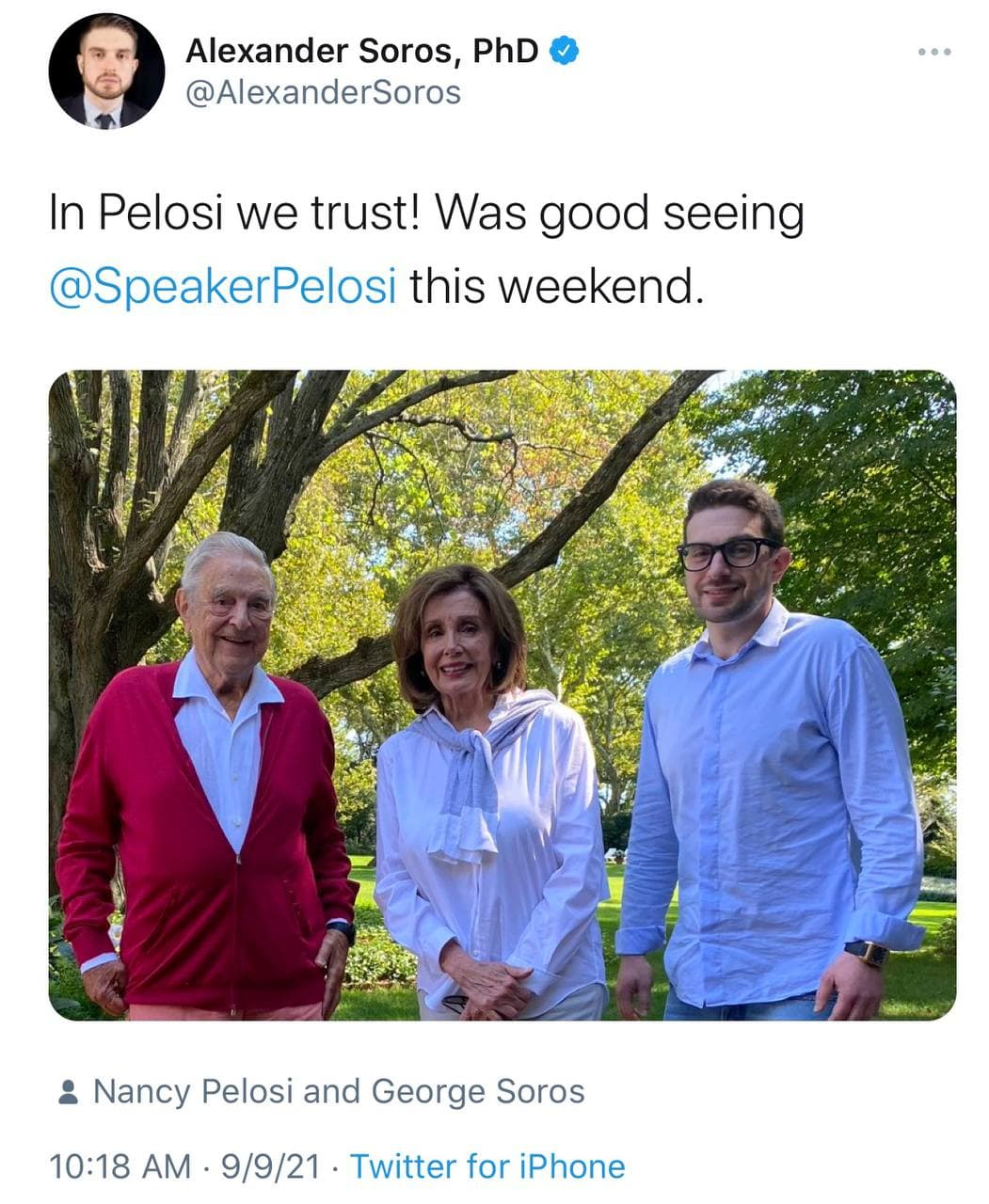 Maskless Nancy Pelosi Pictured Hanging Out with George