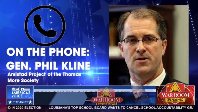 Phill Kline from Amistad Project Joins The War Room on Zuckerberg's Election Interference – Likely Illegal Practices (VIDEO)