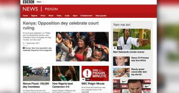 BBC Launches 'Pidgin', a Dumbing Down of English So Africans Don't Have to Assimilate