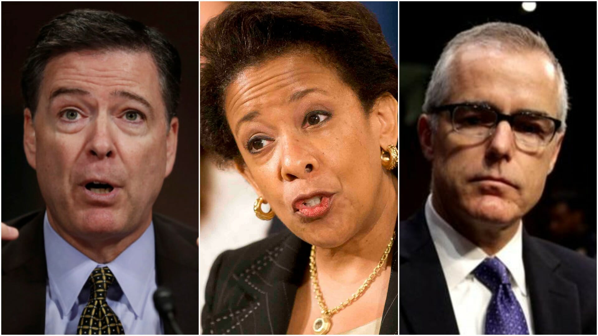 LEAK: Loretta Lynch, James Comey & Andrew McCabe in HOT SEAT as IG Investigation Nears End