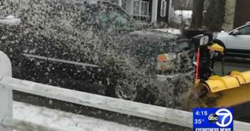 Snowflake Alert: Anti-Trump Protesters Say Snow Plow Driver Targeted Them and Drenched Them with Slush — Call Police (VIDEO)