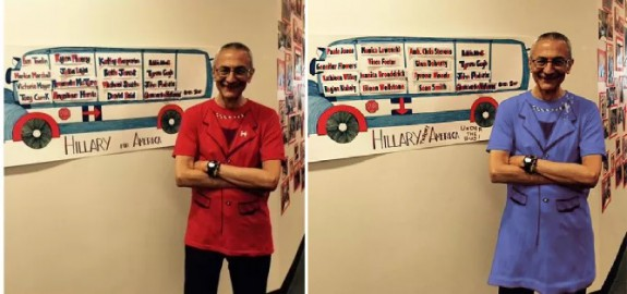 podesta drag blue dress