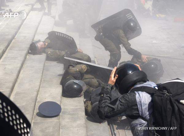 BREAKING VIDEO: Bomb Blast Goes Off Outside Ukrainian Parliament – 100 Police Injured