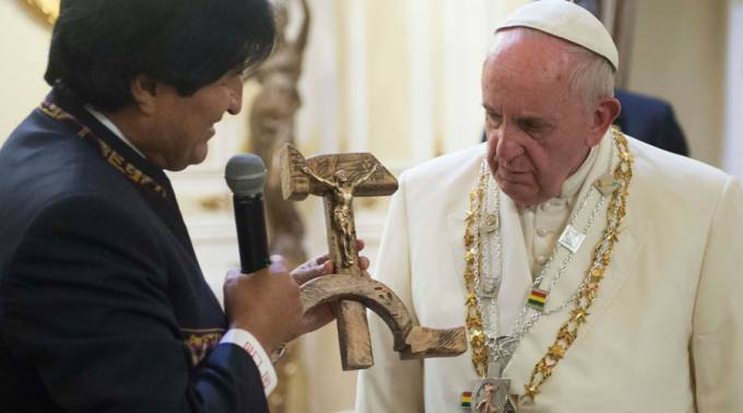 pope hammer and sickle