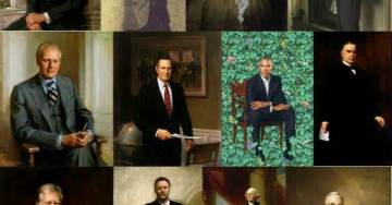 Alinskyite Obama's Final Eff-You to America – His Trendy Leafage Portrait