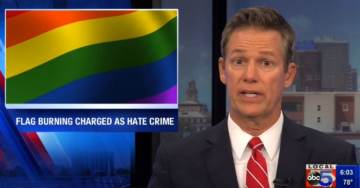 Man Charged with Hate Crime for Burning Pride Flag in Iowa – While Protester Awarded $225,000 for Burning US Flag in Cleveland