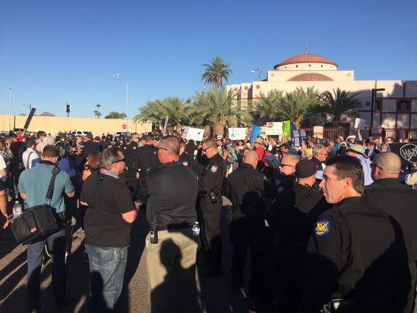 LIVE FEED=> LEFTISTS Face Off With Anti-Islamist Activists at AZ Islamist Center Protest