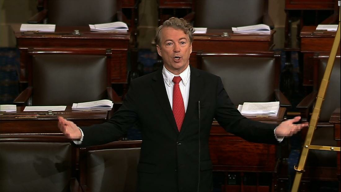 "DNC Lawmakers Hurl Threats at Rand Paul During Filibuster: ""Someone Needs to Fly his Neighbor up Here"""