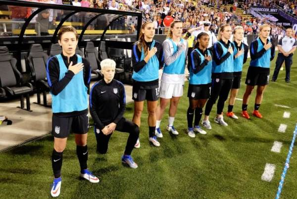 "photo image AWFUL: US Women's Soccer Star and Outspoken Lib Megan Rapinoe Says Her Kneeling During Anthem Is a ""F*ck You"" to Trump"