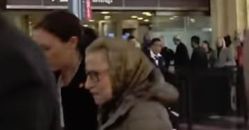 BREAKING: Justice Ruth Bader Ginsburg Caught on Video Being Helped Through Reagan Airport