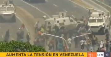 HORROR! Venezuela Regime Soldiers RUN OVER GUAIDO PROTESTERS in Army Vehicle (VIDEO)