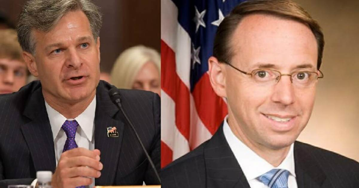 MORE DEEP STATE CRIMES: Rod Rosenstein and FBI Director Wray LIED TO TRUMP and Congress– Said He Was Not Under Investigation