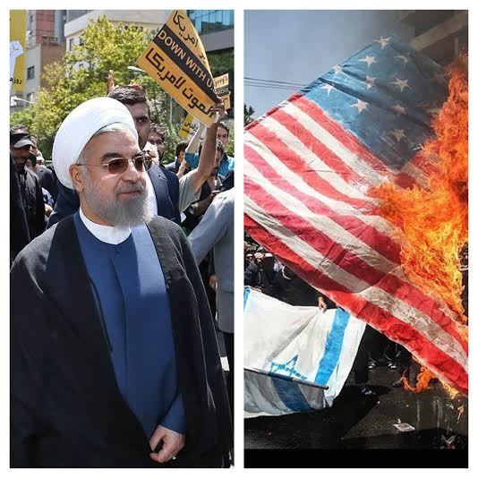 rouhani protest