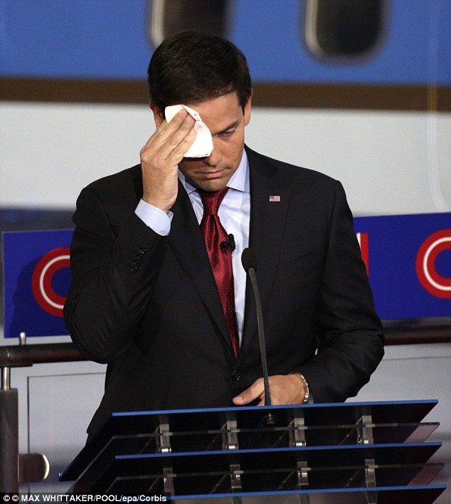 rubio sweating