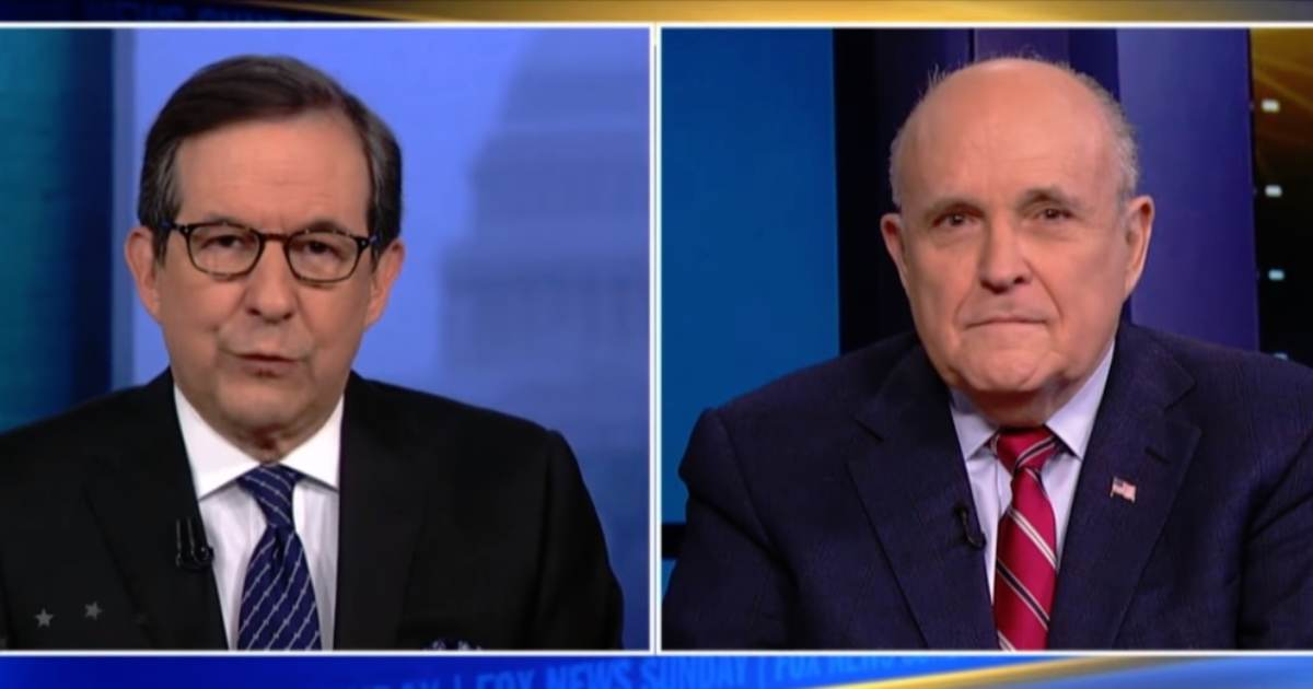 Rudy Giuliani on Whether Trump will Sit Down with Crooked Robert Mueller: Over My Dead Body
