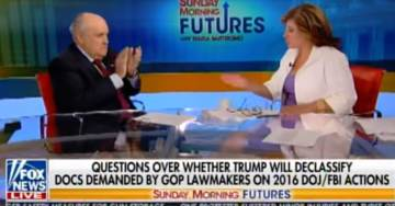 Hah! Rudy Giuliani LAUGHS OUT LOUD AND CLAPS When Told about Crazy John Brennan's Threats to Sue Him (VIDEO)